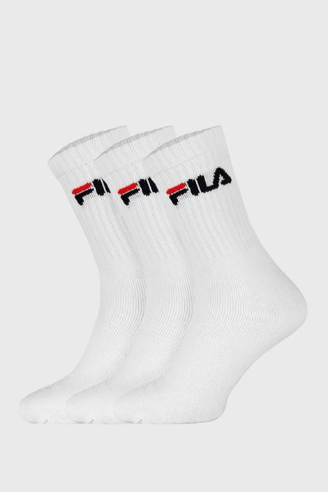 3 PACK bílých vysokých ponožek FILA