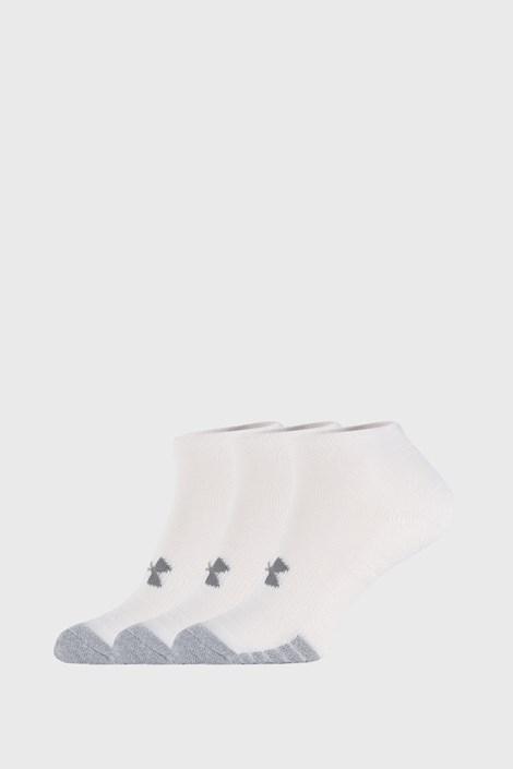 3 PACK bílých ponožek Under Armour Locut