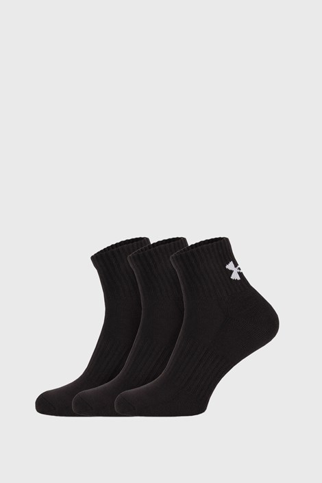 3 PACK černých ponožek Core Under Armour