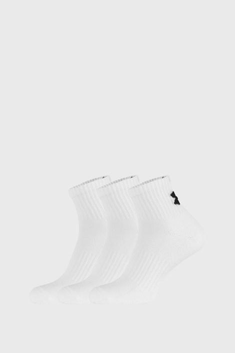 3 PACK bílých ponožek Core Under Armour