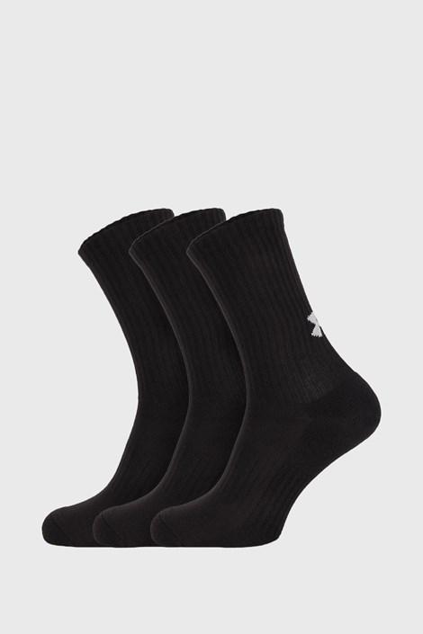 3 PACK vysokých černých ponožek Core Under Armour