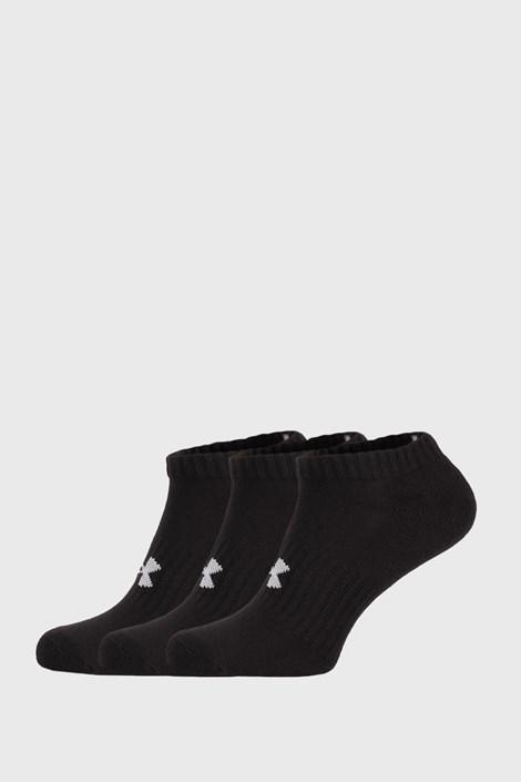 3 PACK nízkých černých ponožek Core Under Armour