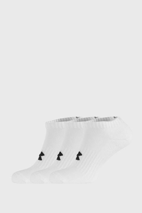 3 PACK nízkých bílých ponožek Core Under Armour