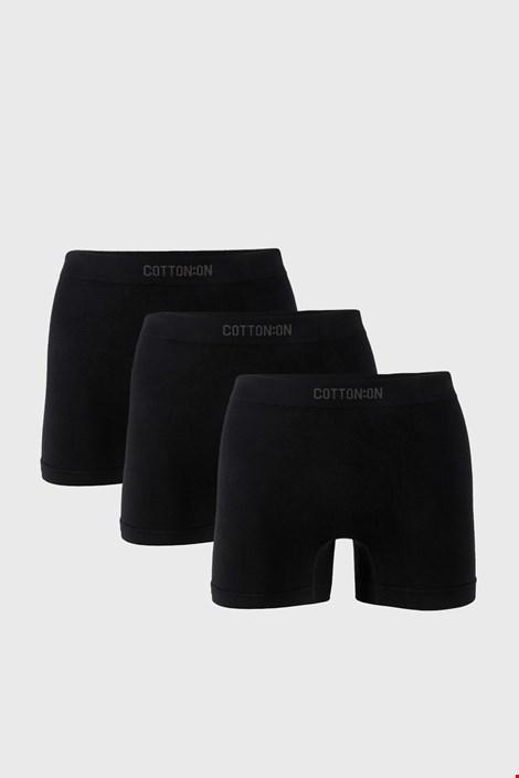 3 PACK černých boxerek Trunk