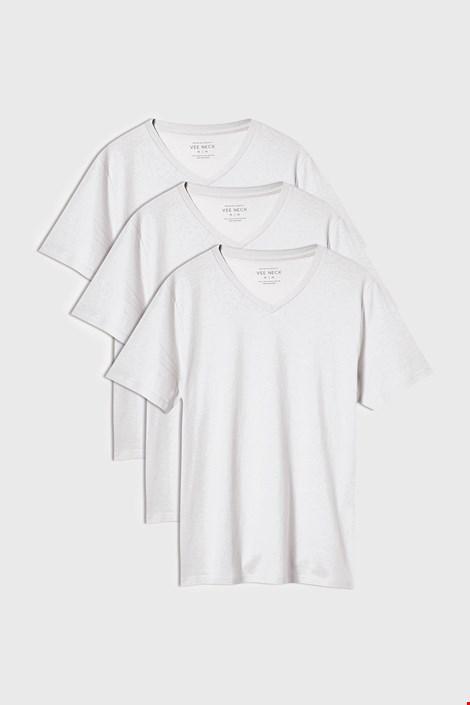 3 PACK bílých triček Kane