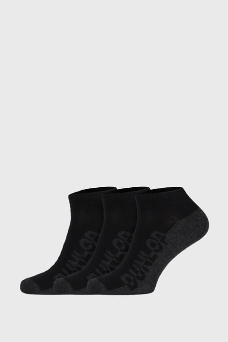 3 PACK černých ponožek Dunlop