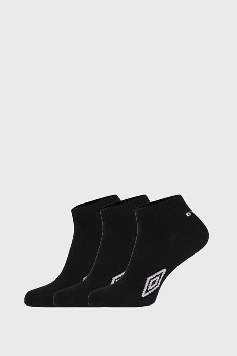 3 PACK kotníkových černých ponožek Umbro