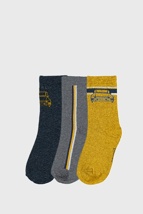 3 PACK chlapeckých ponožek Mayoral Cars