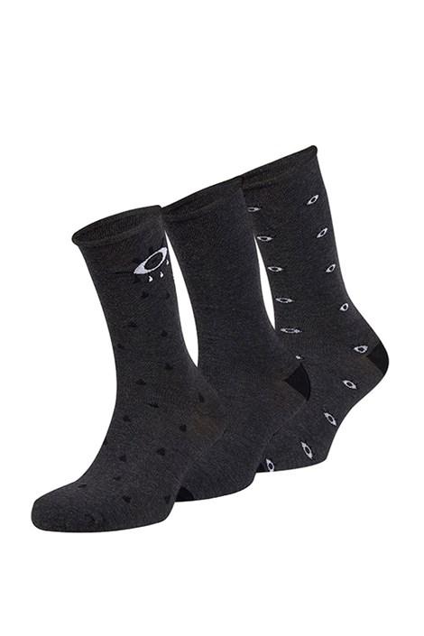 Ysabel Mora 3 pack ponožek Stefano tmavěšedá uni