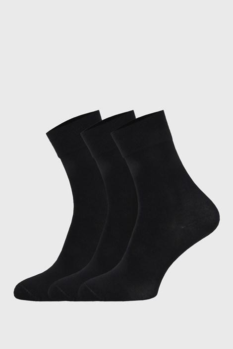 3 PACK černých sportovních ponožek