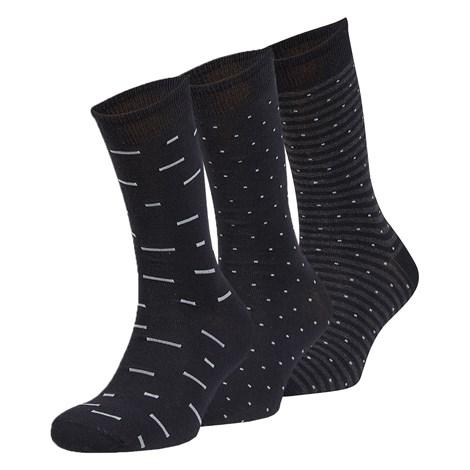 Ysabel Mora 3 pack ponožek Mateo černá uni
