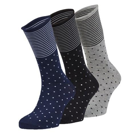 Ysabel Mora 3 pack ponožek Marco barevná uni