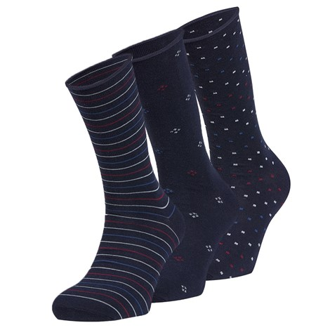 Ysabel Mora 3 pack ponožek Jacob černá uni