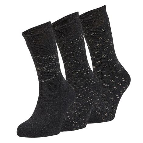 Ysabel Mora 3 pack hřejivých ponožek Dino černá uni