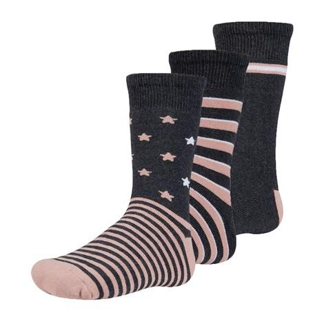 Ysabel Mora 3 pack dětských hřejivých ponožek Abelu černorůžová 32-34