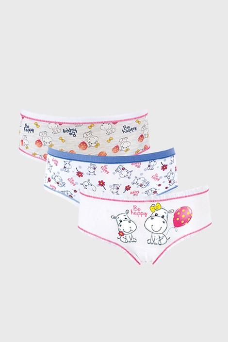 3 PACK dívčích kalhotek Be happy