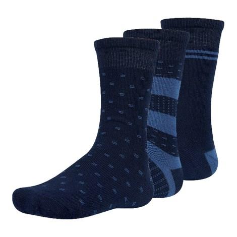Ysabel Mora 3 pack dětských ponožek Kinm modrá 26-28