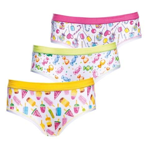 Jadea 3 pack dětských kalhotek Candy barevná ... 1d5abae454