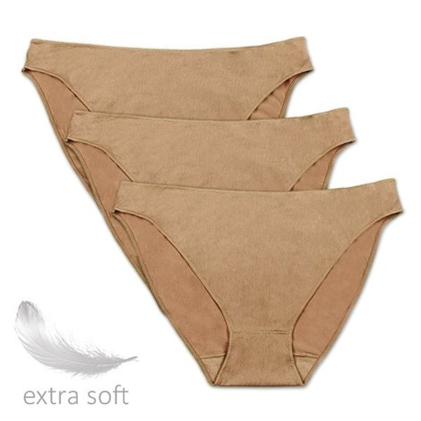 Sassa Kalhotky 3 pack z mikrovlákna jemné béžová 46