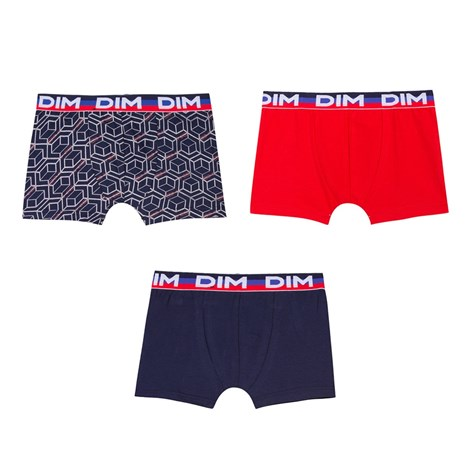 DIM 3 pack chlapecký boxerek DIM 7020 vícebarevné 10