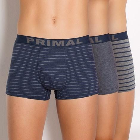Primal 3pack pánských boxerek PRIMAL B157 barevná XL