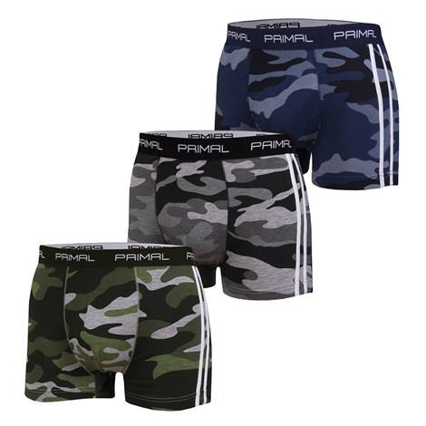 Primal 3 pack pánských boxerek PRIMAL B174 barevná M