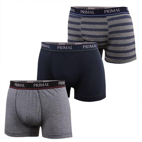 Primal 3 pack pánských boxerek PRIMAL B197 barevná XXL