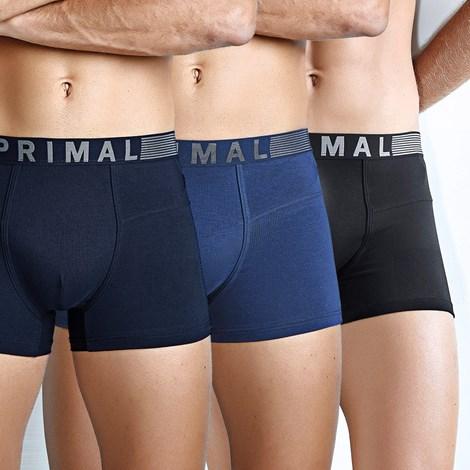 Primal 3 pack pánských boxerek PRIMAL B203 černomodrá XXL