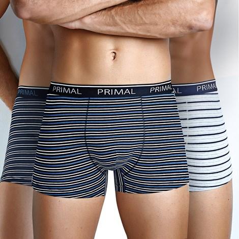 Primal 3 pack pánských boxerek Primal B205 barevná M