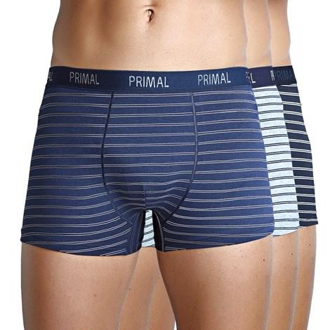 Primal 3 pack pánských boxerek PRIMAL B214 modrošedá XXL