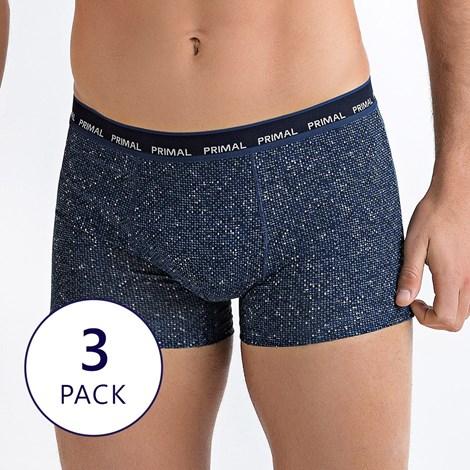 Primal 3 pack pánských boxerek v šedomodré kombinaci vícebarevná S