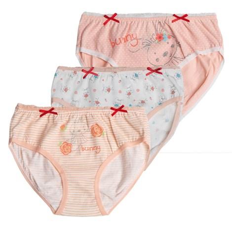 Lama 3 PACK dívčích kalhotek Sweet vícebarevná 98/104