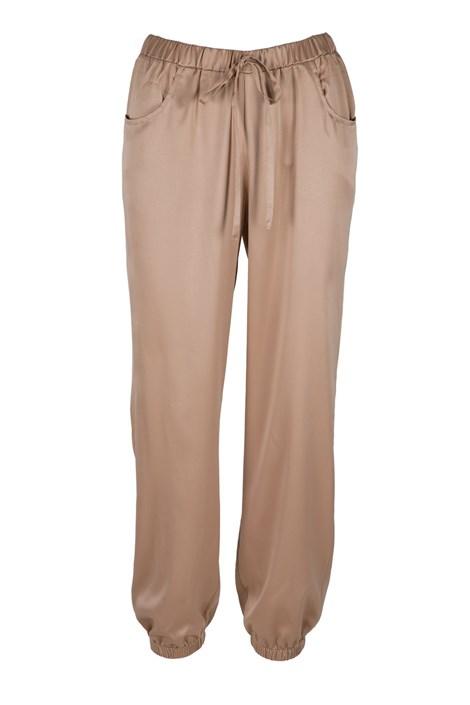 LingaDore Saténové pyžamové kalhoty Dolce Latte béžová S