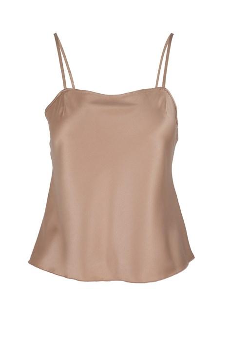 LingaDore Dámská saténová košilka na spaní Dolce Latte béžová XS