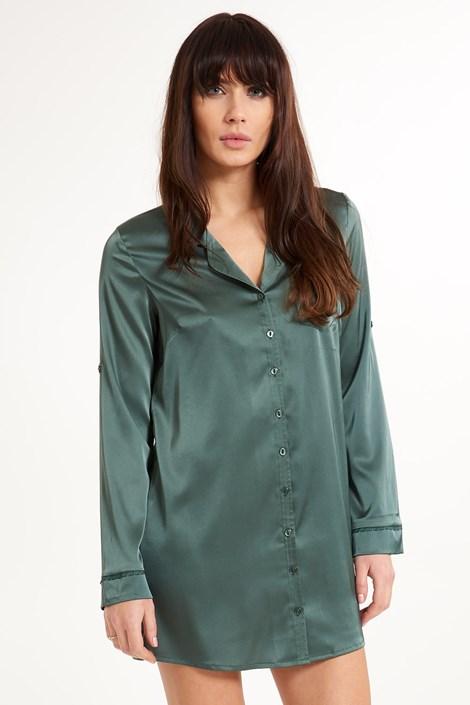 LingaDore Luxusní saténová košile Secret Delight šedá M