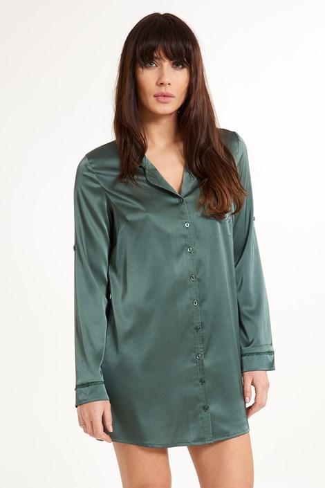 LingaDore Saténová košile na spaní Secret Delight zelená S