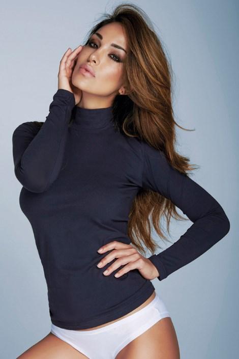 Jadea Hřejivé tričko Lisa se stojáčkem modrá S/M