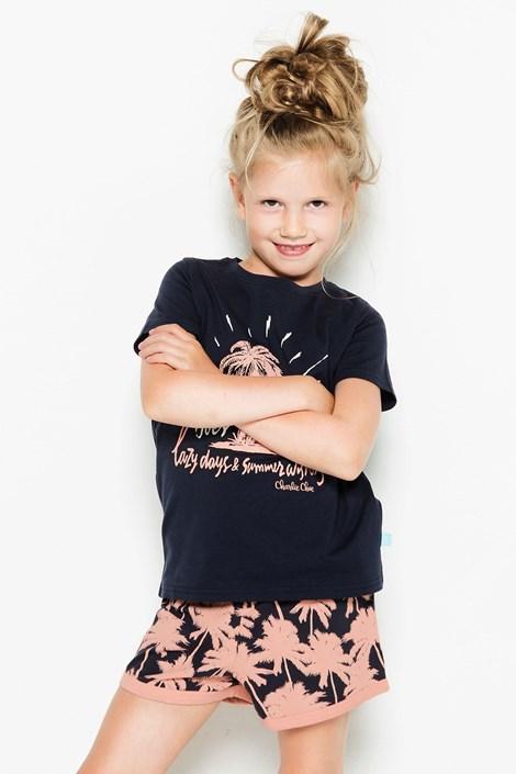 Charlie Choe Dívčí pyžamo Palm Trees vícebarevná 110