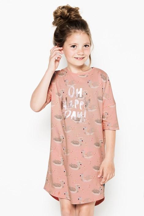 Charlie Choe Dívčí noční košile Swans vícebarevná 98