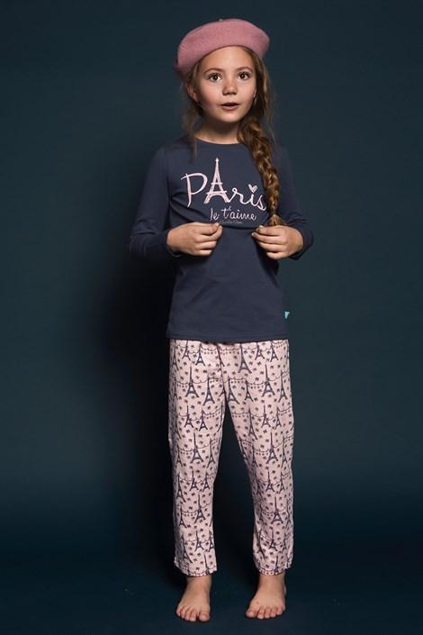 Charlie Choe Dívčí pyžamo Paris 01 nám.modrá 98/104