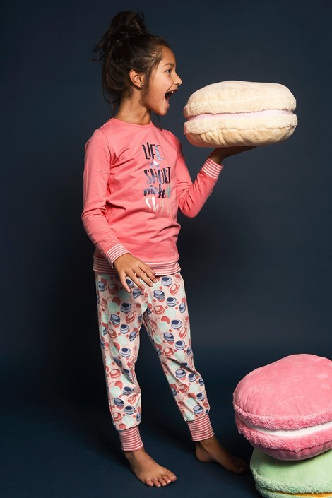 Charlie Choe Dívčí pyžamo Sweet life růžová 98/104