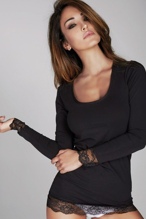 Dámské tričko Laura s krajkou