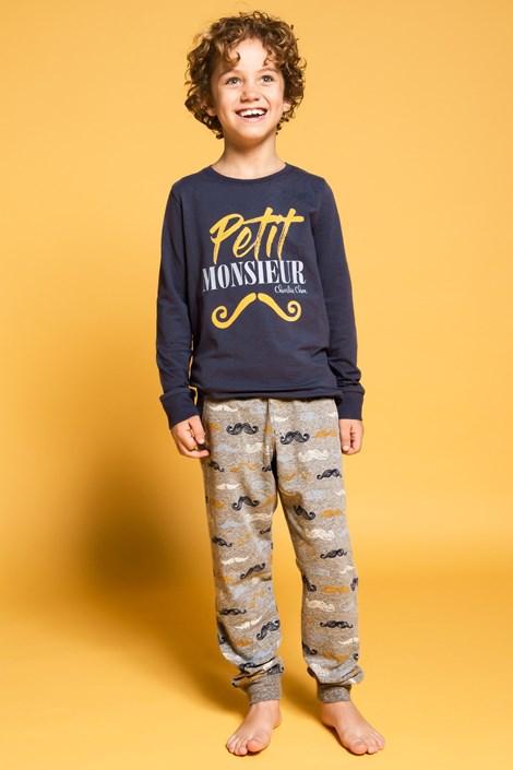 Charlie Choe Chlapecké pyžamo Petit Monsieur modrá 98/104
