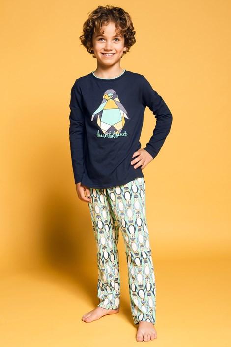 Charlie Choe Chlapecké pyžamo Dream and discover nám.modrá 146/152
