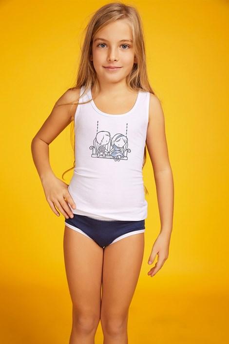 Jadea Dívčí komplet kalhotek a tílka Love modrá 3 4 6abc7f6b57