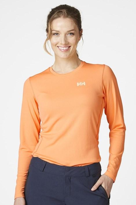 Oranžové tričko s dlouhým rukávem Helly Hansen