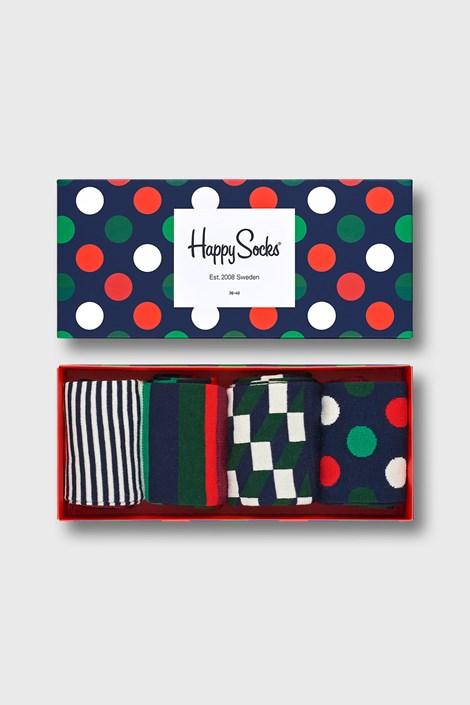 4 PACK ponožiek Happy Socks Big Dot