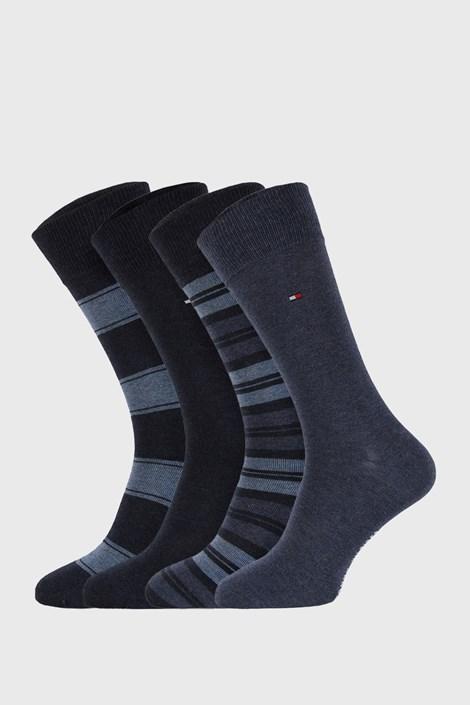 4 PACK modrých ponožek Tommy Hilfiger