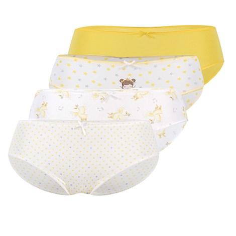 Mayoral Moda Infantil, S:A.U. 4 PACK dívčích kalhotek Mayoral Sunny žlutá 8