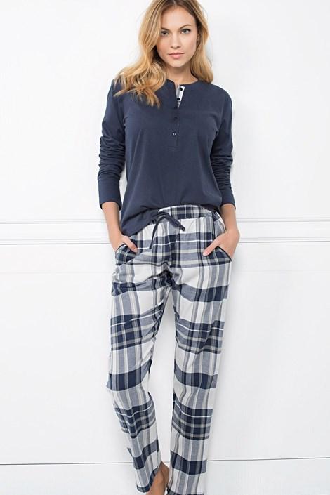 Jadea Dámské bavlněné pyžamo Zaffiro modrá S
